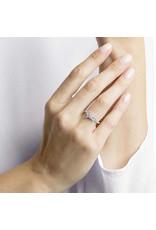 Lifelong Bow Ring, Small, White, Rhodium, Size 60