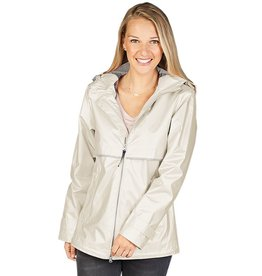 Charles River Apparel New Englander Rain Jacket Metallic Ivory Pearl