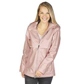 Charles River Apparel New Englander Rain Jacket Rose Gold Plaid
