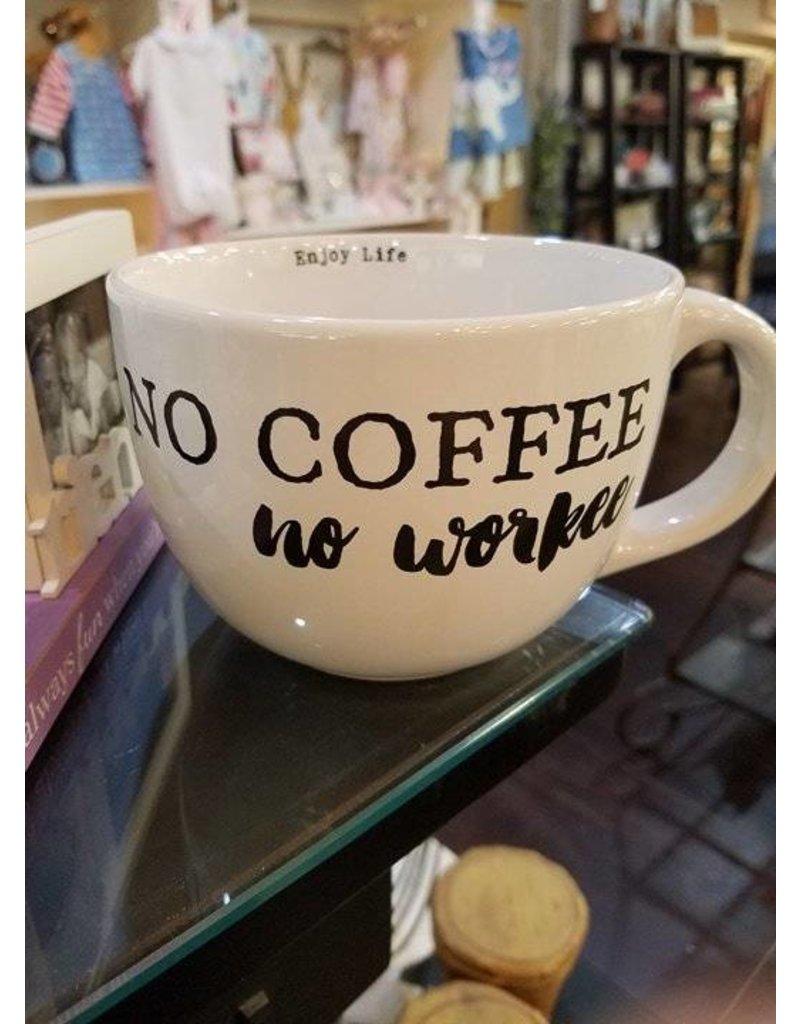Sweet Bird & Co. 24oz Mug No Coffee No Workee