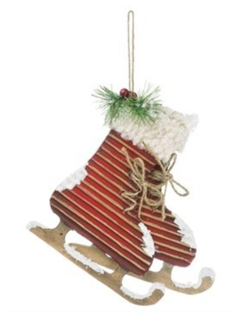 Red Skates w/ Fur Ornament