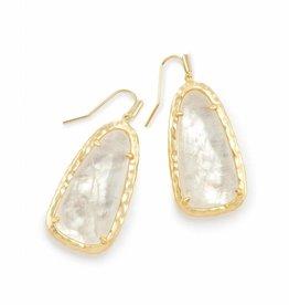Kendra Scott Lyn Earring Gold Crystal Ivory Illusion