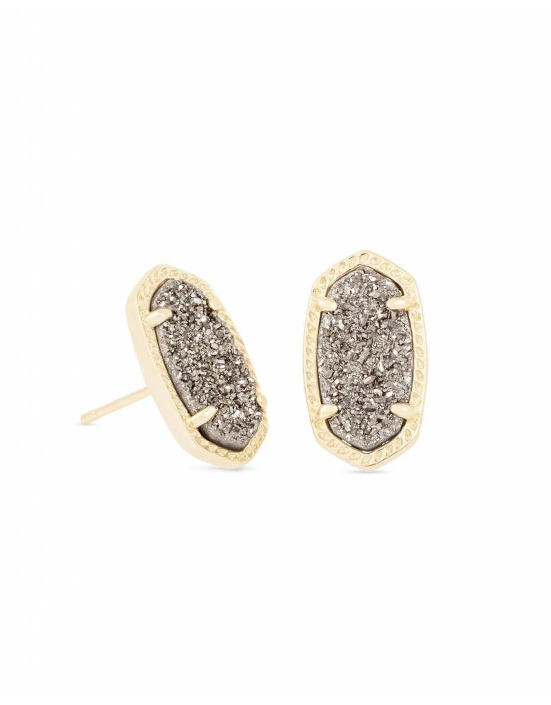 Kendra Scott Ellie Earring Platinum Drusy Gold