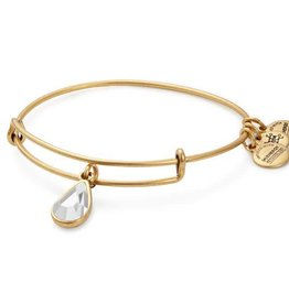 Alex and Ani Swarovski Teardrop Color Code EWB April, Crystal Gold