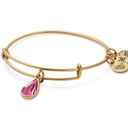 Alex and Ani Swarovski Teardrop Color Code EWB October, Rose Gold