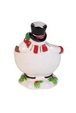 Fitz and Floyd Top Hat Frosty Footed Bowl w/ Spreader