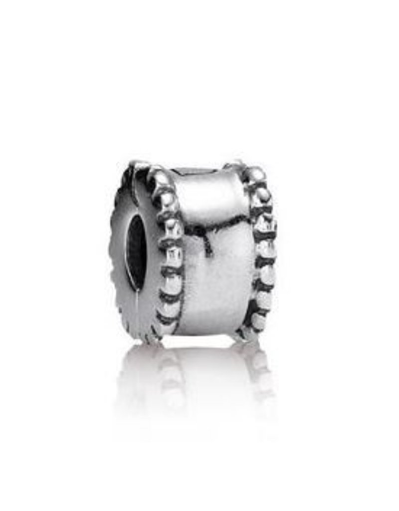 Pandora Jewelry Clip Beveled Silver