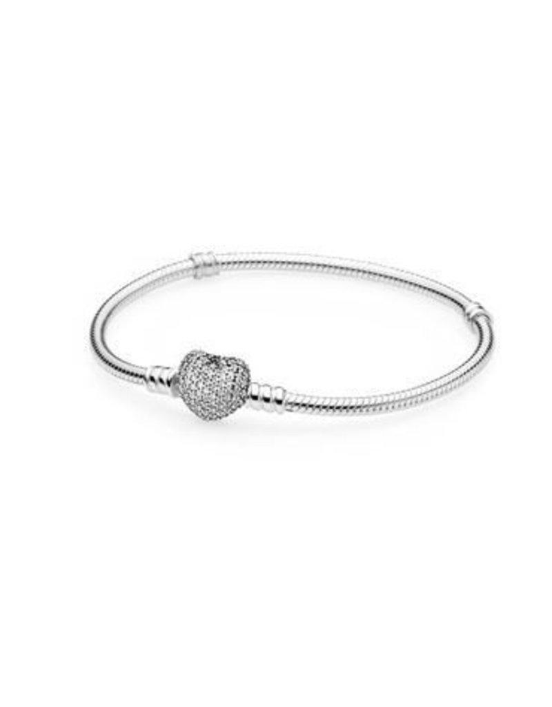 Pandora Jewelry Bracelet Pave Heart Clr Cz