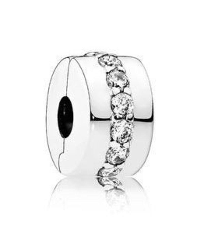 Pandora Jewelry Clip Shining Path, Clear