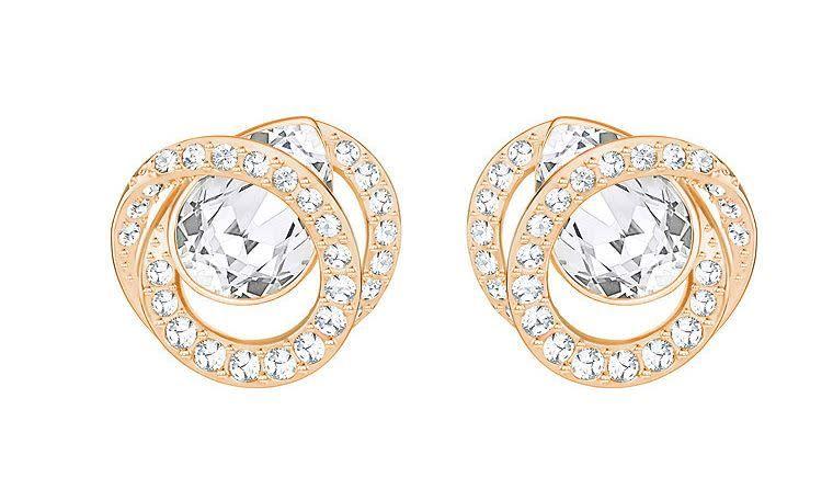 Swarovski Generation Pierced Earring Gold