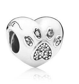 Pandora Jewelry Charm I Love Pet Heart Clr CZ