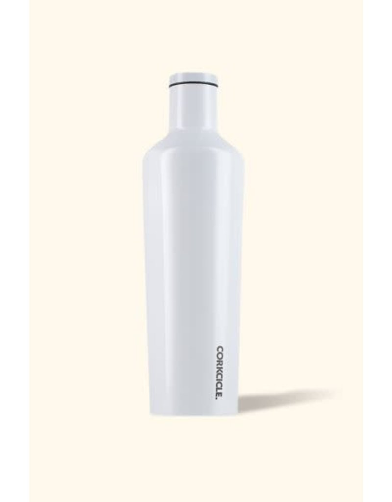 Corkcicle Canteen 25 oz Dipped Modernist White