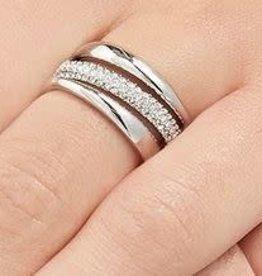 Swarovski Exact Ring Cry/Rhs