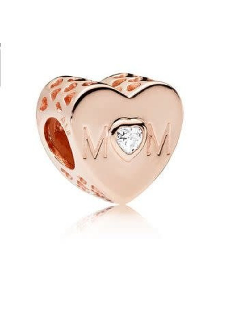 Pandora Jewelry Rose Mother Heart Charm, Clear CZ