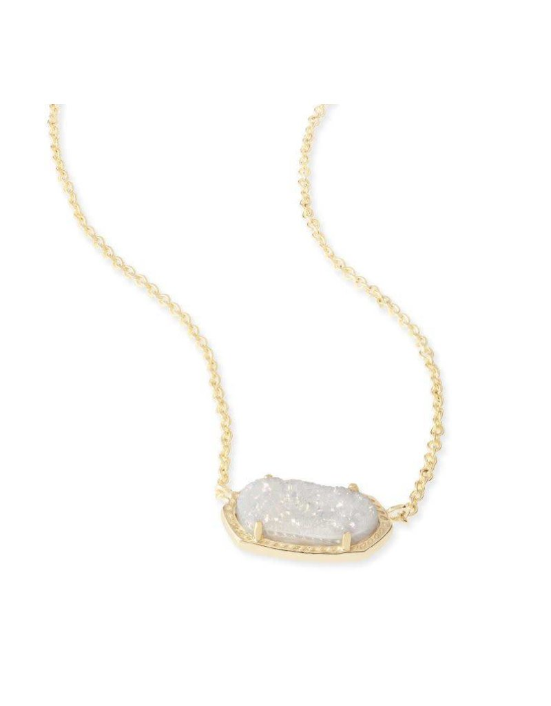 Kendra Scott Elisa Necklace Gold Iridescent Drusy