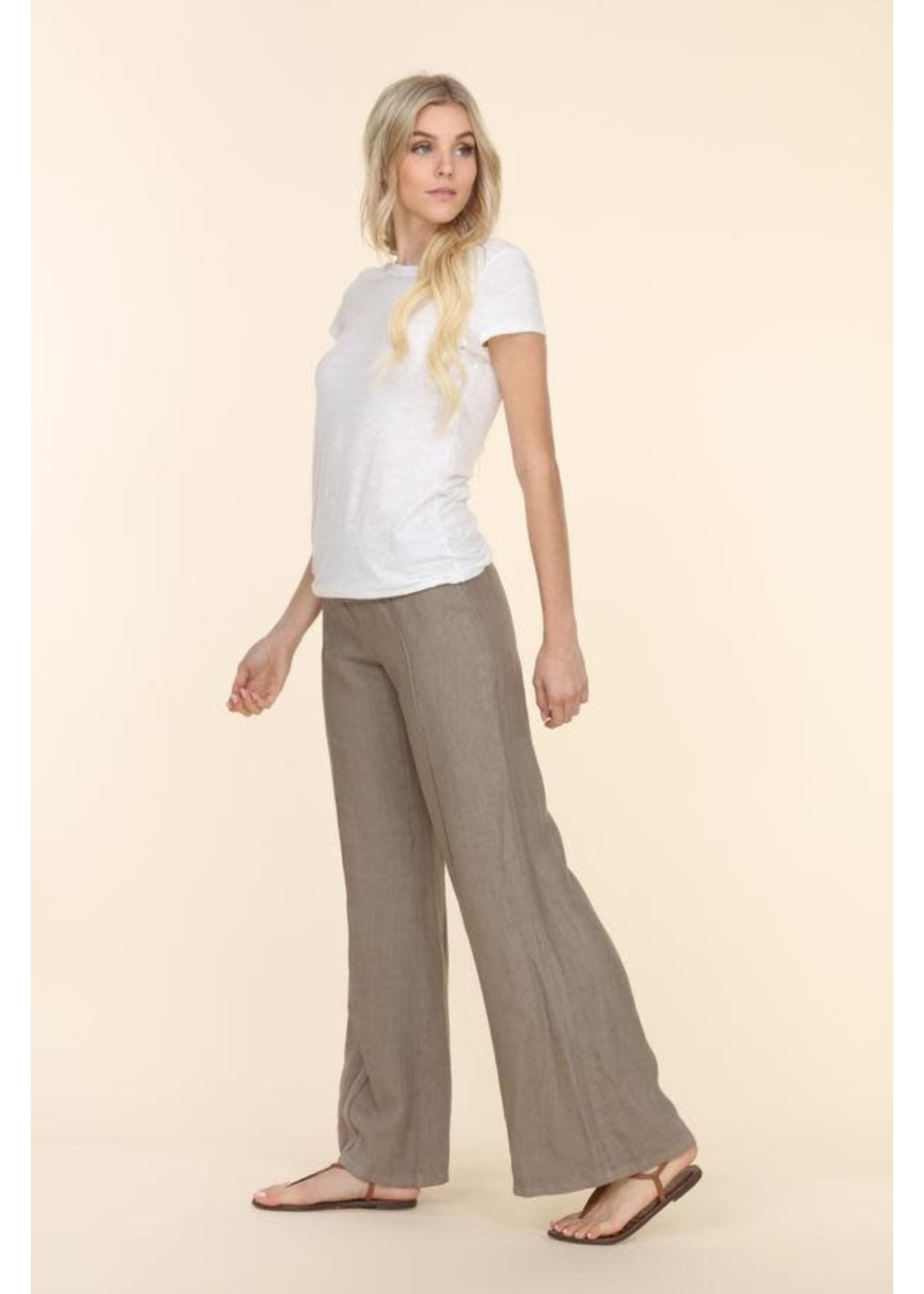 """Fold Over Linen Pant 30"""""""