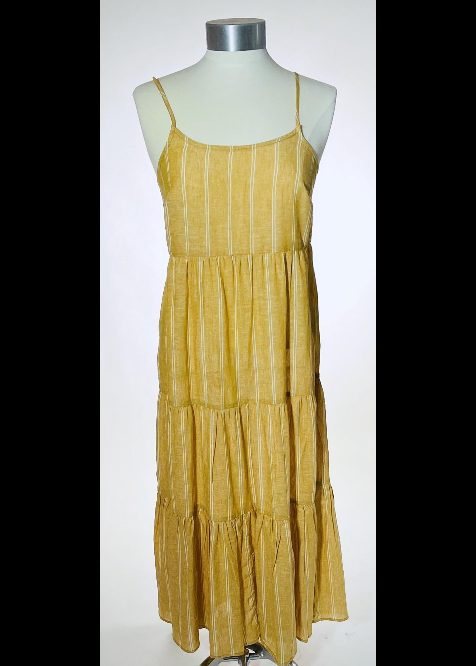Lana Striped Tiered Strap Dress