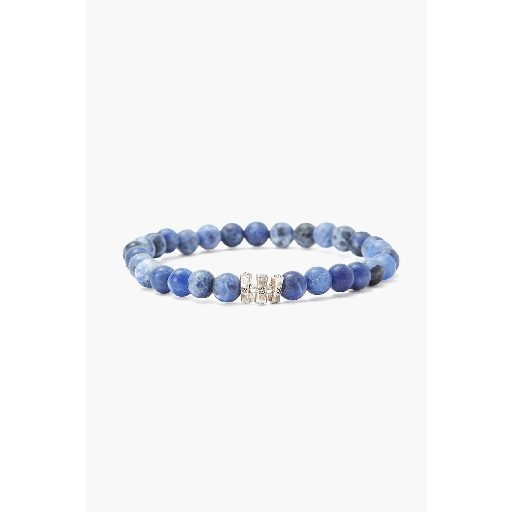 Chan Luu Etched Silver Stretch Bracelet