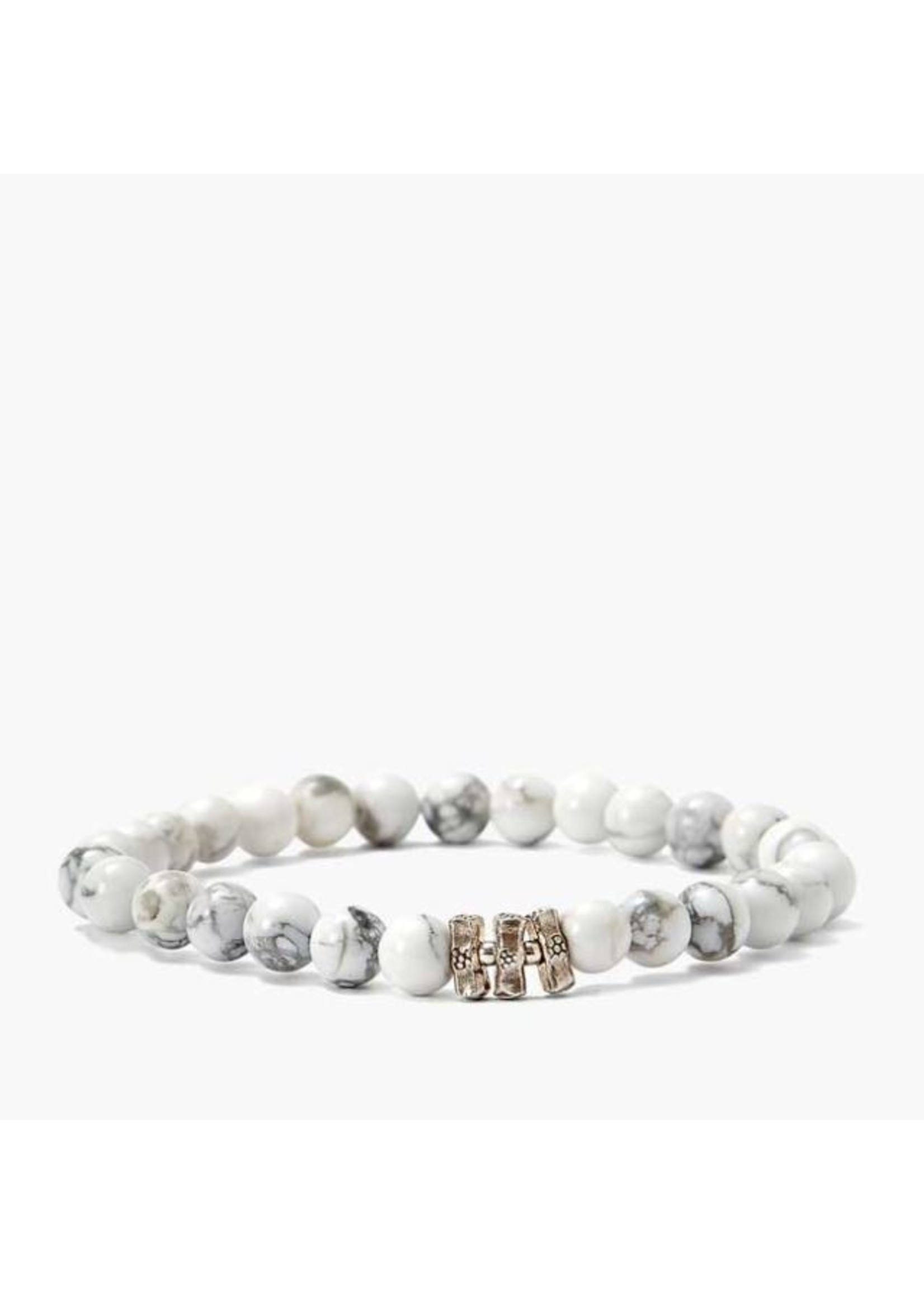 Chan Luu Chan Luu Etched Silver Stretch Bracelet