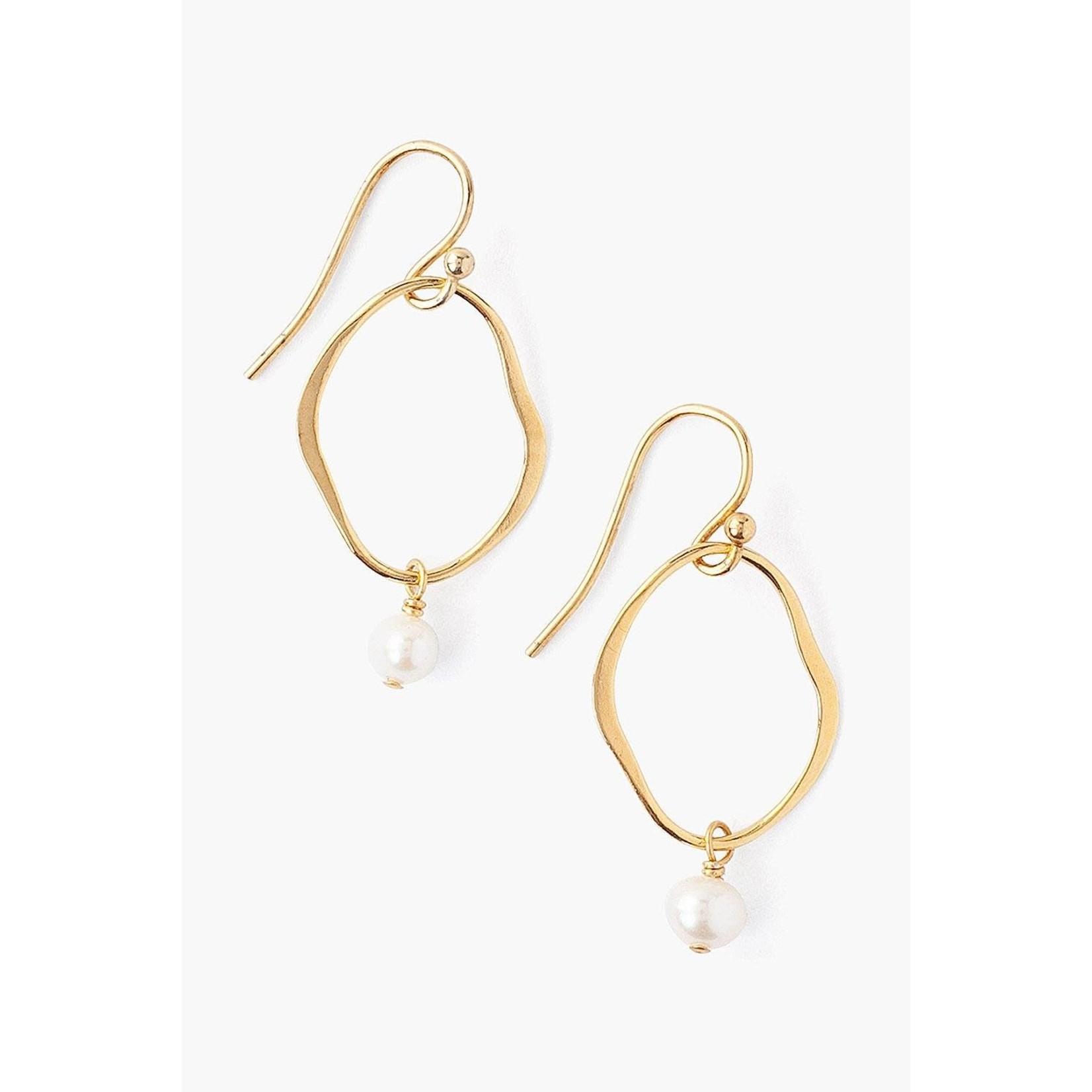 EG-5201 White Pearl Earrings