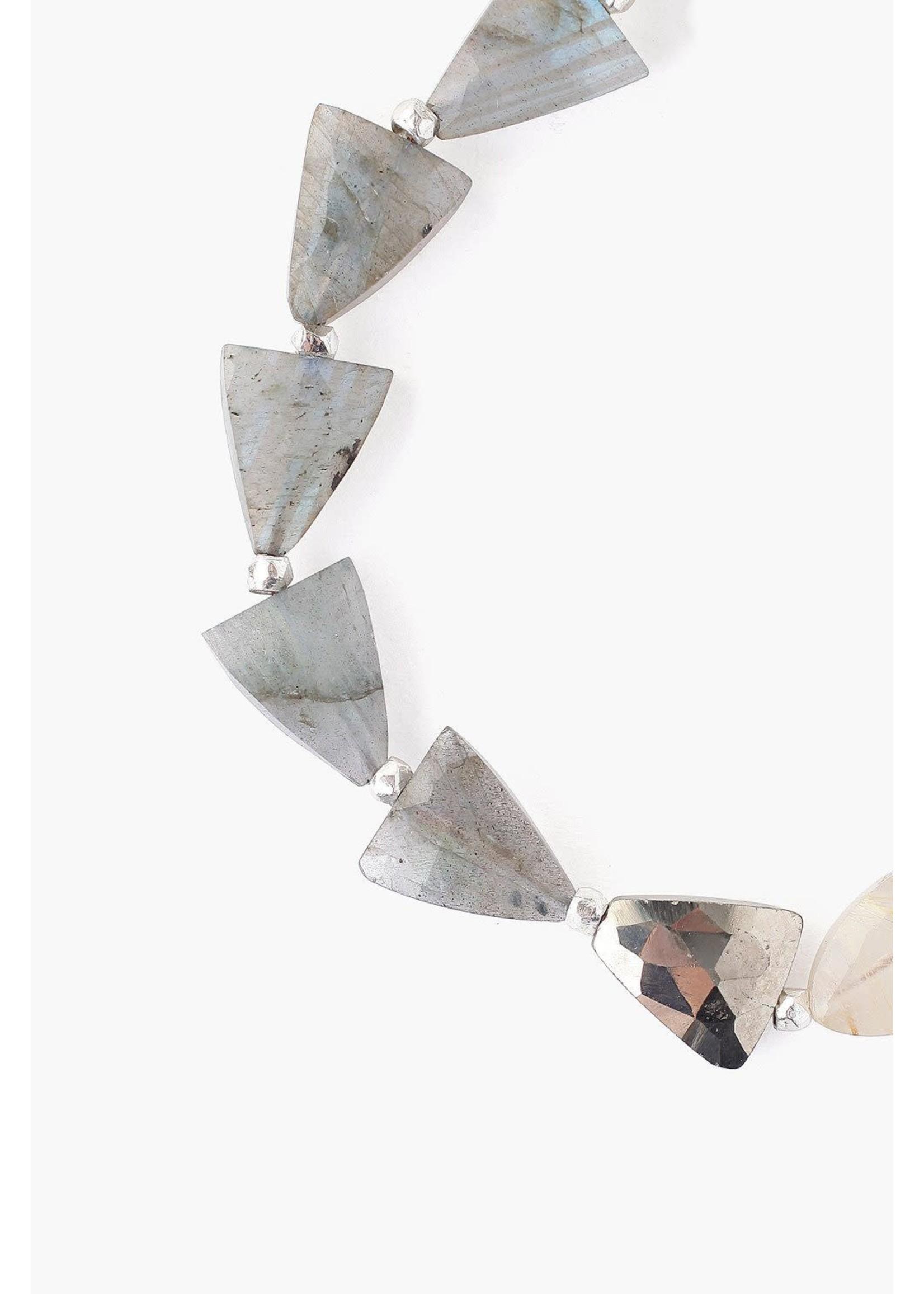 Chan Luu Chan Luu Labradorite Mix Starcut Pull-Tie Bracelet