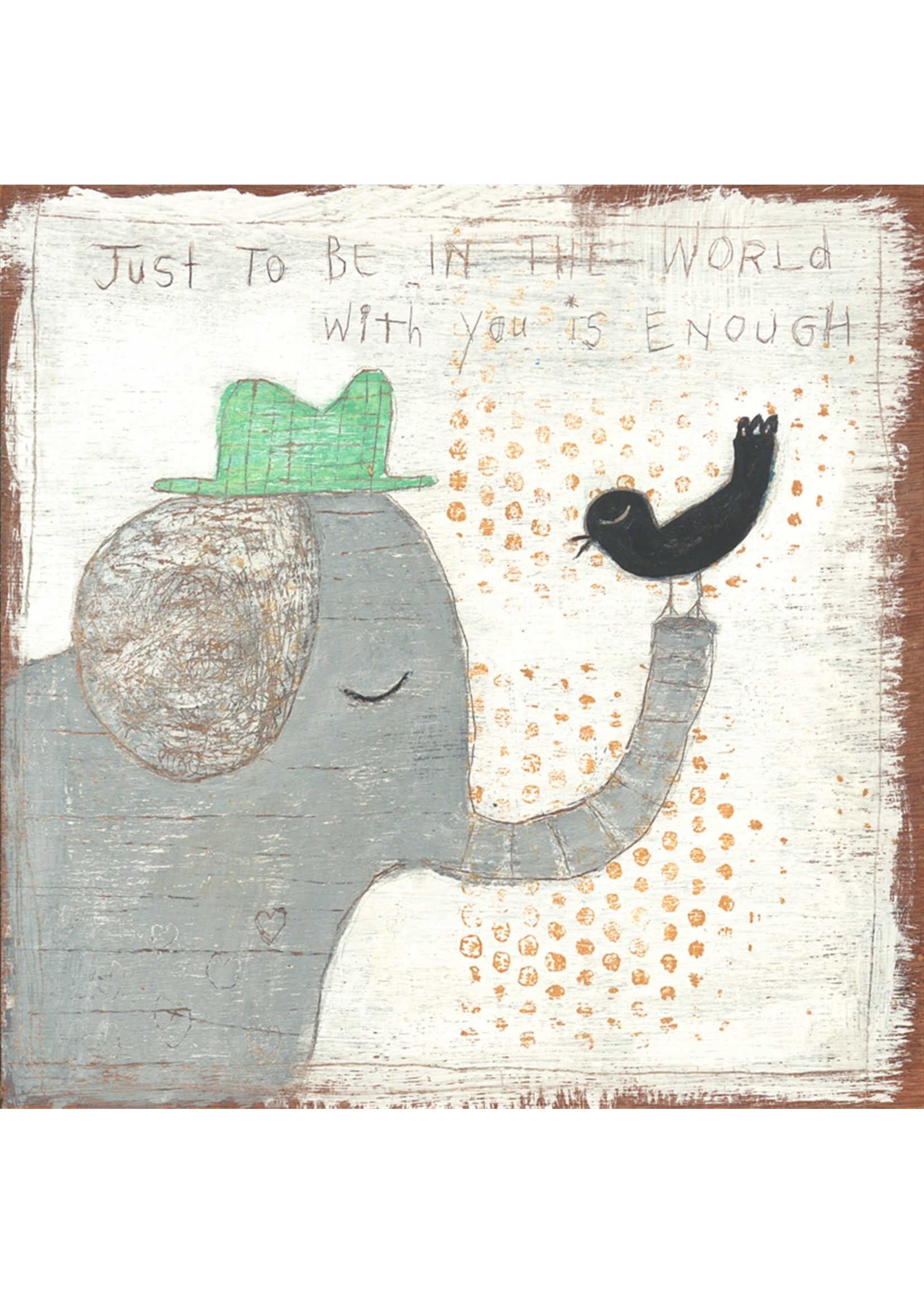 In the World With You 24.5x24.5