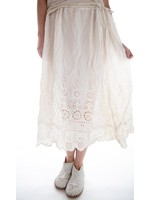 Magnolia Pearl YOU ARE MY SUNFLOWER EYELET SLIP SKIRT