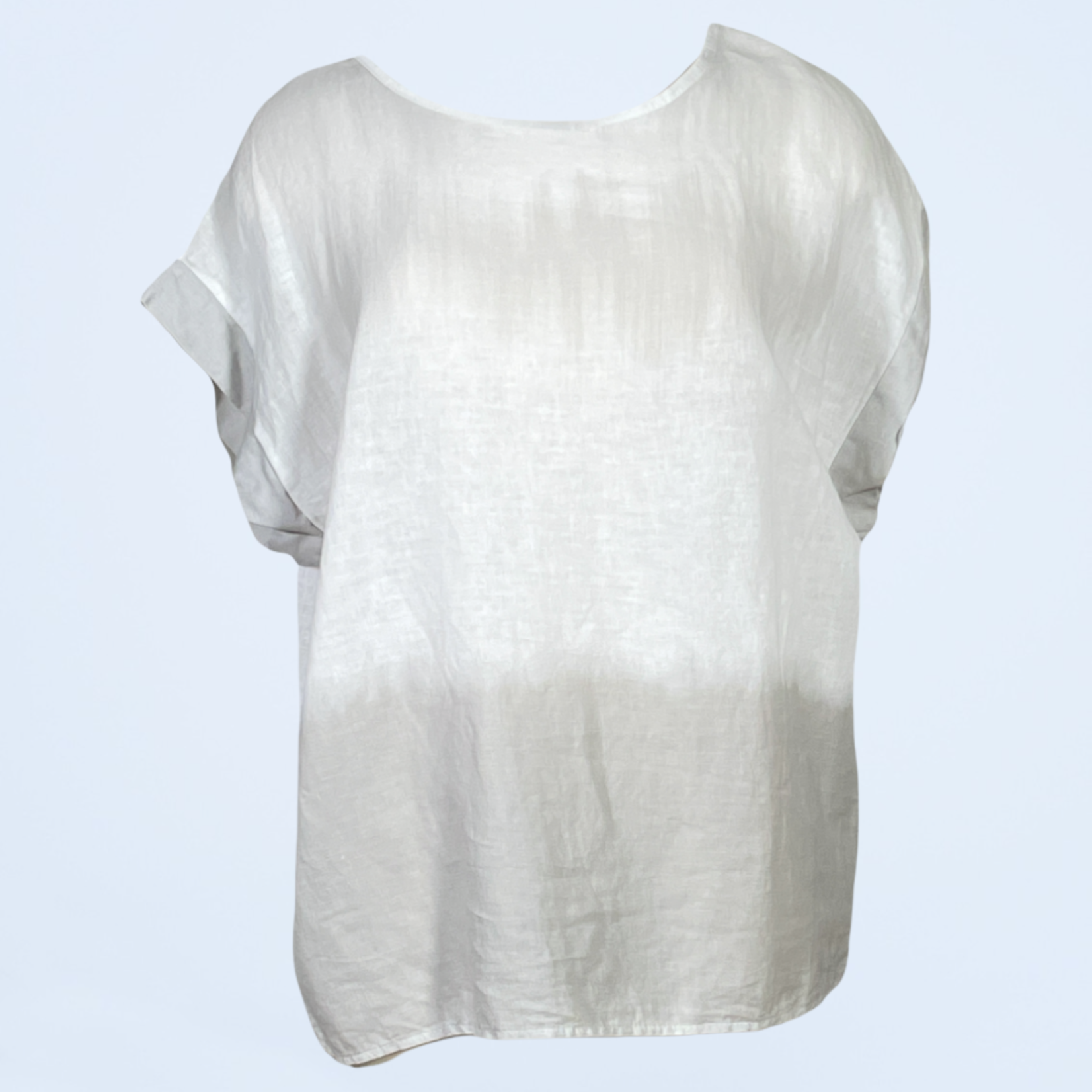 Short Sleeve Ombre Top