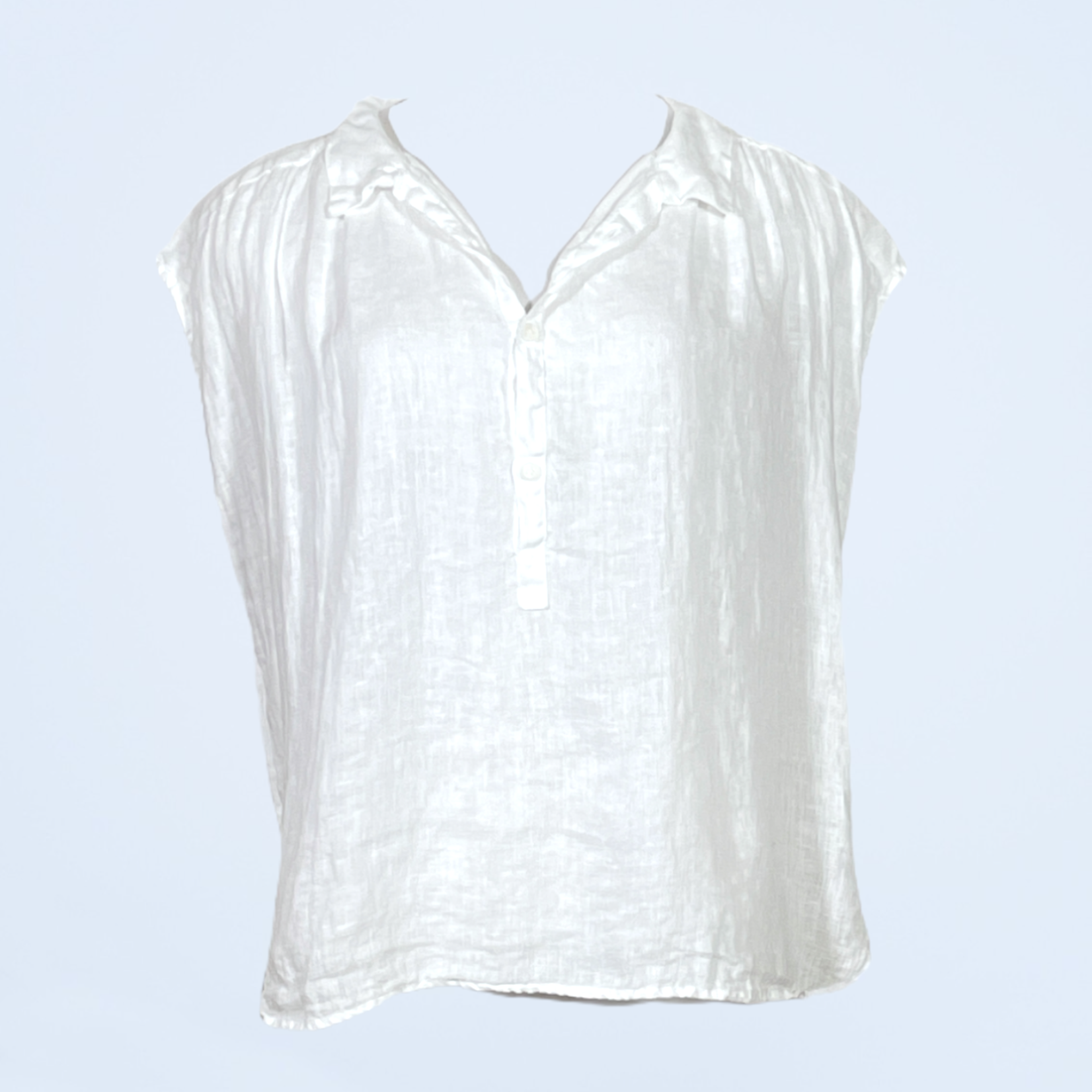Claire Cap Sleeve Top with Collar