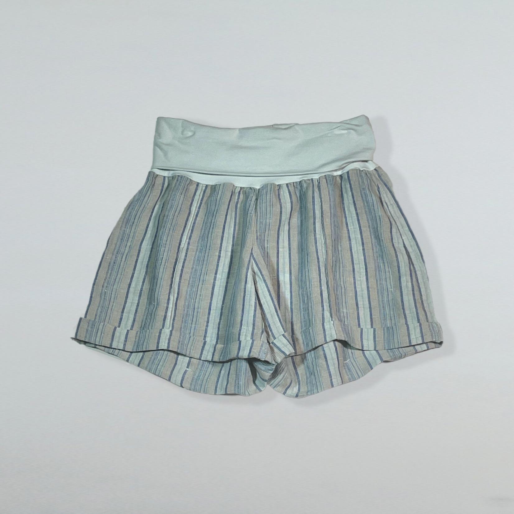 Fold Over Linen Short
