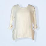 Top / Fern Double Cotton Gauze Top White OS