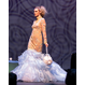 Dean Renwick Lace Garden & Sky Flounce Gown