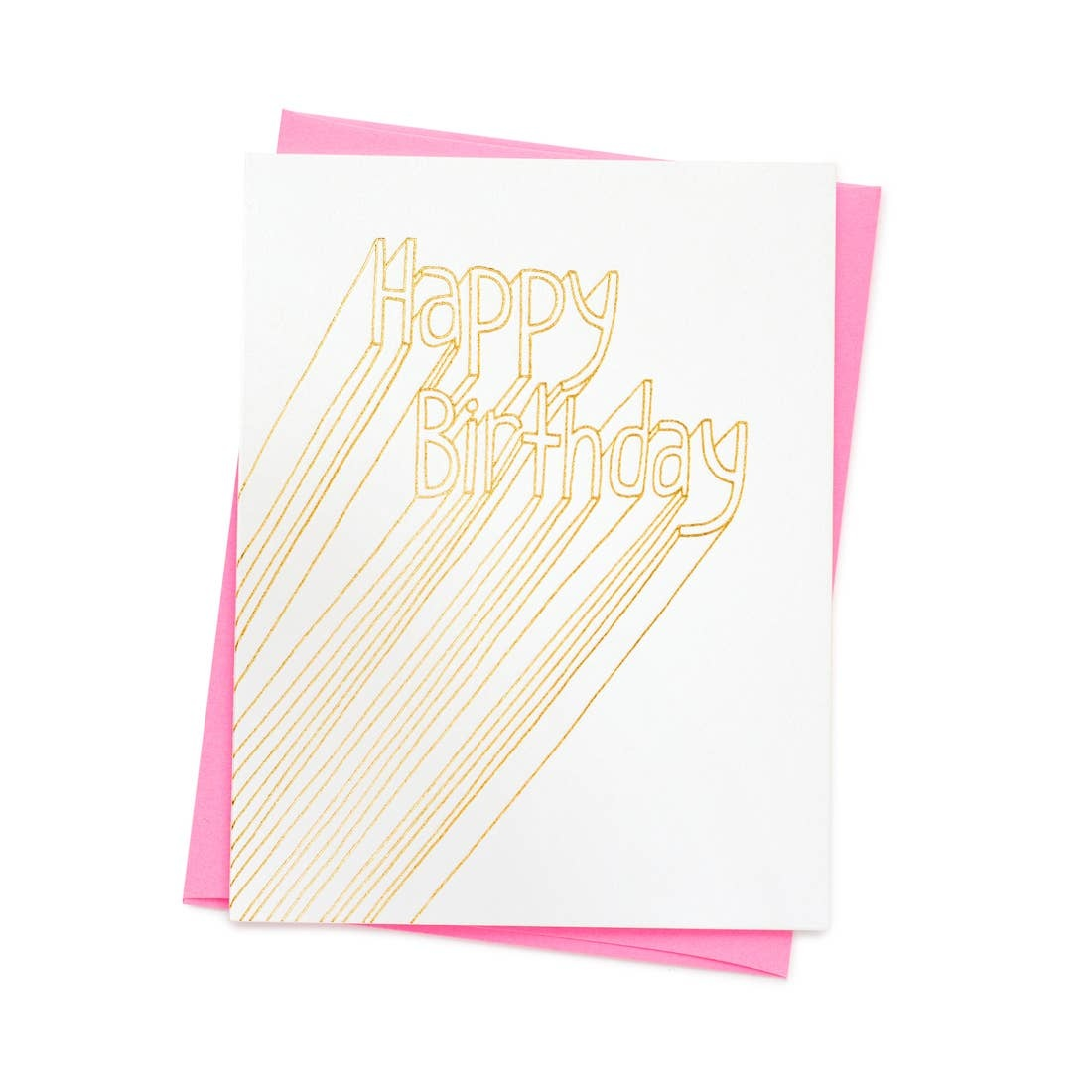 ASHKAHN & CO Happy Birthday Gold Card