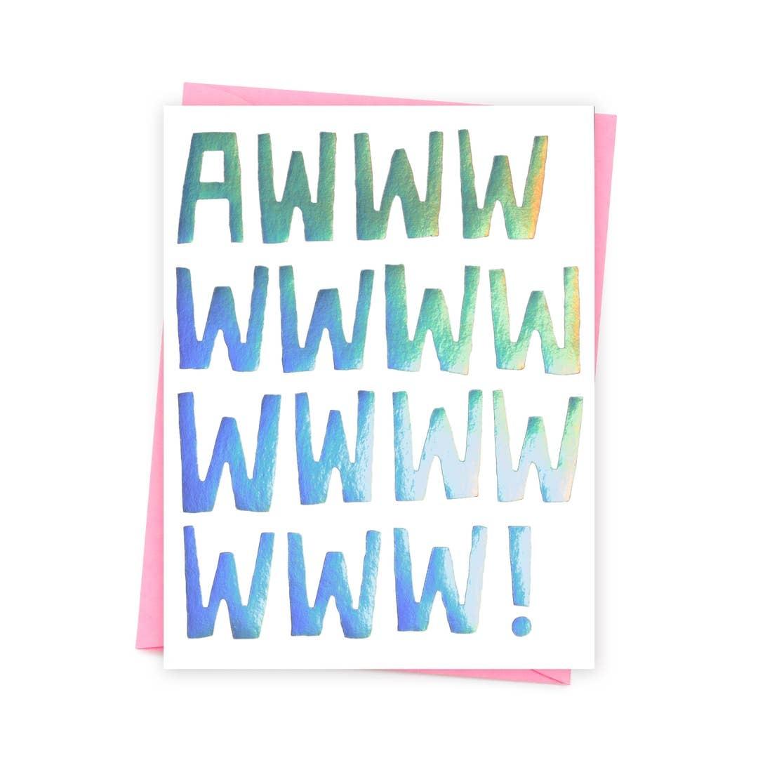 ASHKAHN & CO Awww! Card