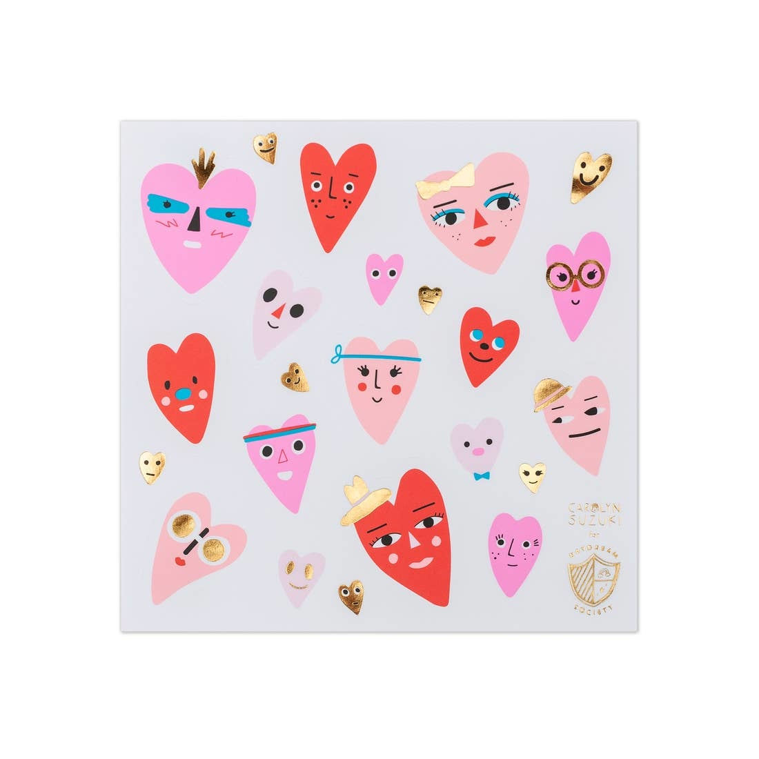 DAYDREAM SOCIETY Heart Face Stickers