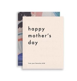 MOGLEA Favorite Child Mother's Day Card