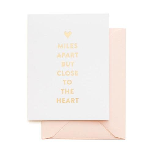 SUGAR PAPER Miles Apart Close To Heart Card