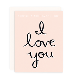 GIRL WITH KNIFE Nightmare But I Love You Card