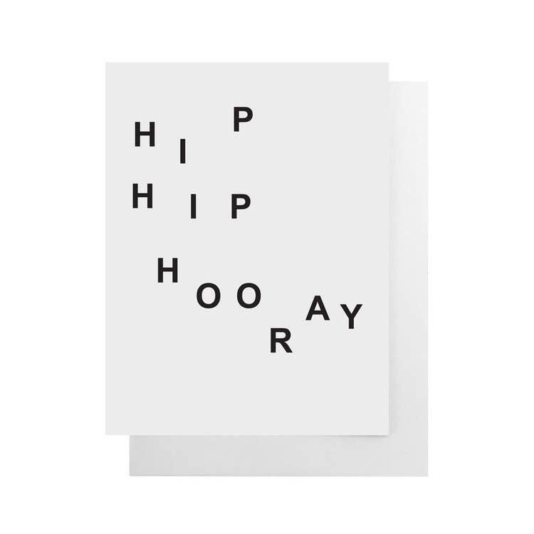 CULT PAPER Hip Hip Hooray Card