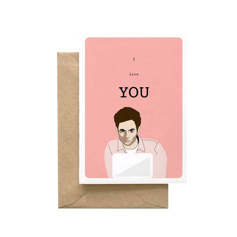 SPAGHETTI & MEATBALLS Love YOU Joe Goldberg Card