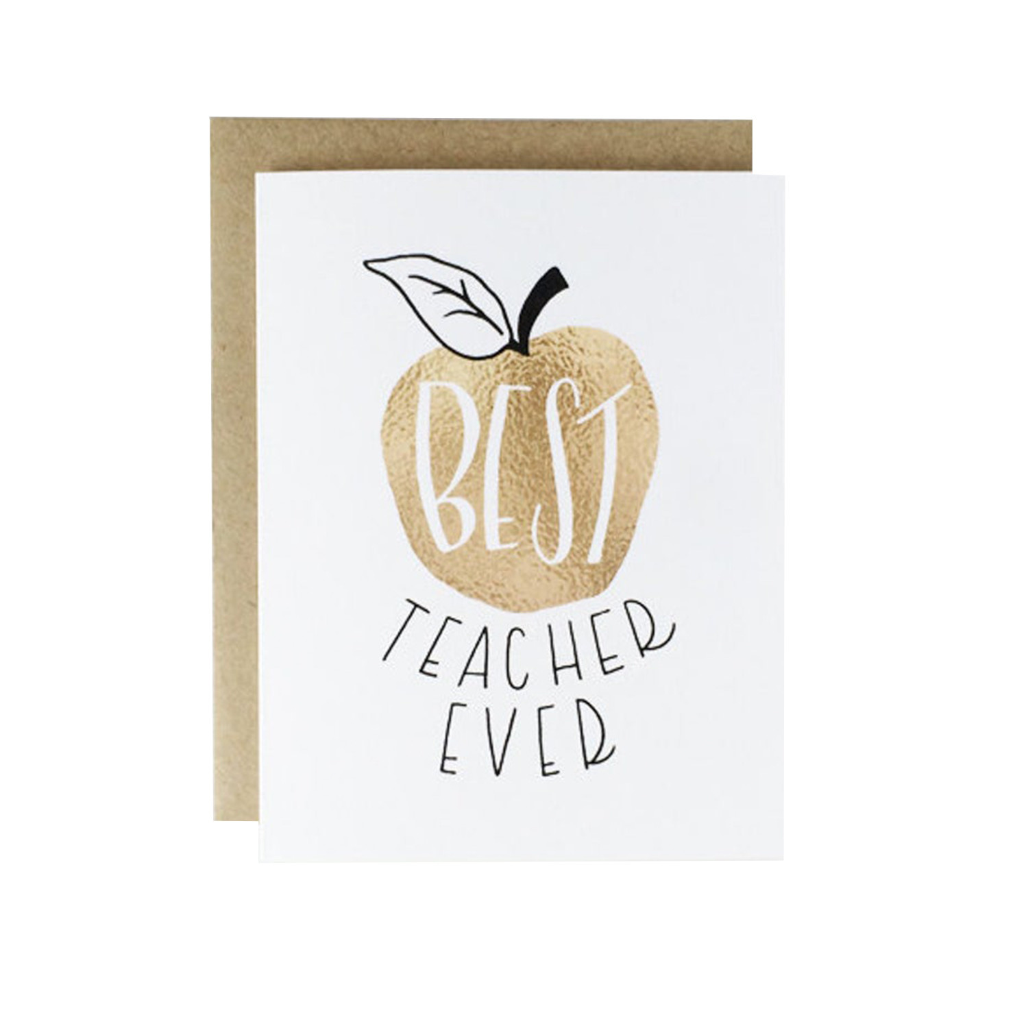 WHIMSY AND WILD Best Teacher Ever Card