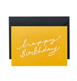 KATIE LEAMON Happy Birthday Script Card