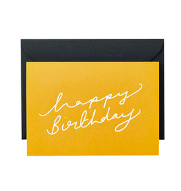 KATIE LEAMON Happy Birthday Script Card