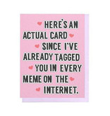 VIOLET CLAIR Tagged In Every Meme Card