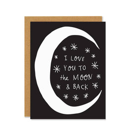 BADGER & BURKE Love You Moon & Back Card
