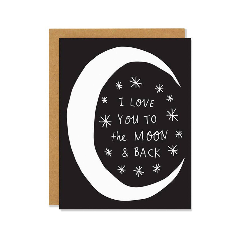 BADGER & BURKE Love You Moon & Back Card