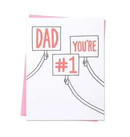 ASHKAHN & CO Dad You're #1 Card