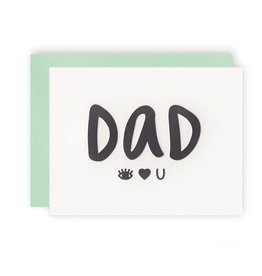 KB PAPERIE Dad Eye Heart U Card