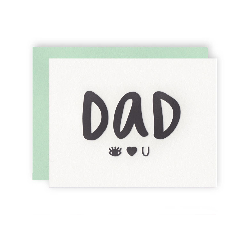 KB PAPERIE Dad Eye Heart U Card