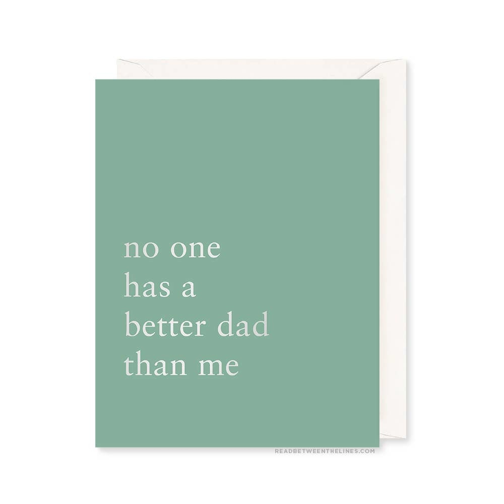 READ BETWEEN THE LINES Better Dad Card